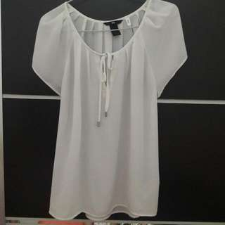 Hnm White Blouse