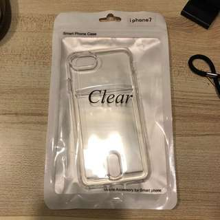 Clear TPU Iphone 7 Card Case
