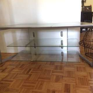 Glass Tv Stand (perfect condition)