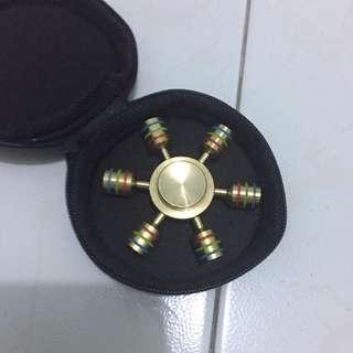 6 Brass Piece Fidget Spinner
