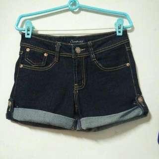 (全新)深藍牛仔短褲