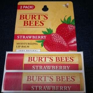 BURT'S BEES 護唇膏 草莓口味二入 #含運最划算