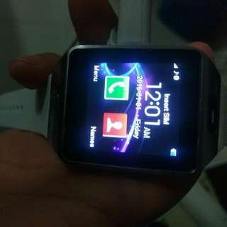Android SmartWatch (Bluetooth, Camera, SimCard Capable) (White)