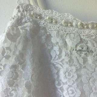 A&F White Lace Top