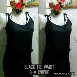 Black Dress Tie Up