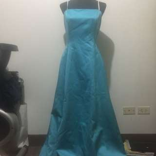 REPRICED!! Strapless Skyblue Evening Long Gown