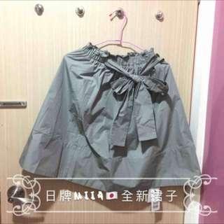 全新日本知名服飾品牌Miiaの淺灰色裙子 全新Miia裙子 日本短裙 日本服飾 miia服飾