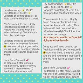 🌟Thank You Carousell & Carousellers🌟