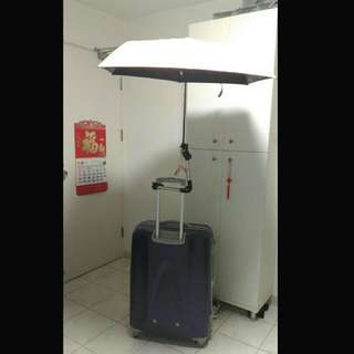 Luggage stainless steel folding telescopic support stick(Real Photo Real Fact)行李箱不鏽鋼摺疊伸縮撑遮架 (小店親拍 有圖有真相)