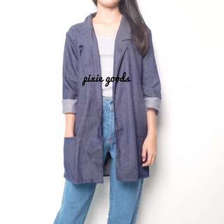 boyfriend denim blazer