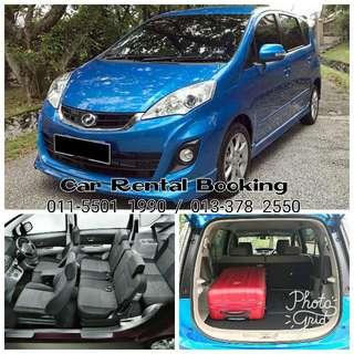 """Alza 1.5 (Auto) """"7 - Seater """" Car Rental / Kereta Sewa"""