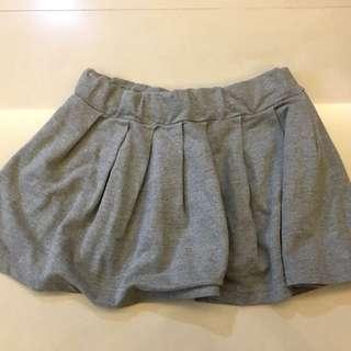 降❗️灰棉質鬆緊短裙