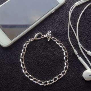 mens G-clef chain bracelet