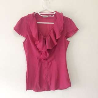Accent Shirt With Ruffle Detail