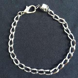 mens skull chain bracelet