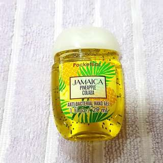 Bath And Body Works Jamaica Pineapple Colada Pocketbac Antibacterial Hand Santizer Gel
