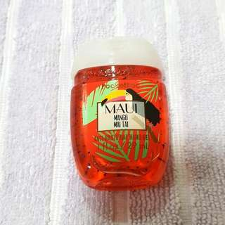 Bath And Body Works Maui Mango Mai Tai Pocketbac Antibacterial Hand Santizer Gel
