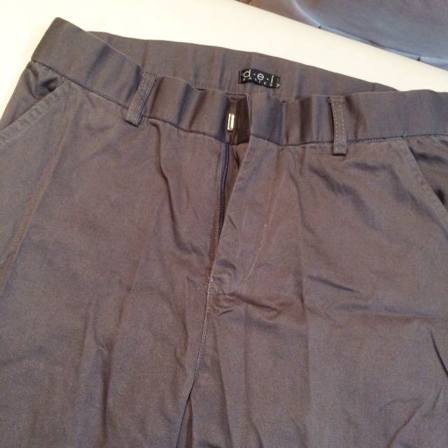 2 Office Pants In Grey