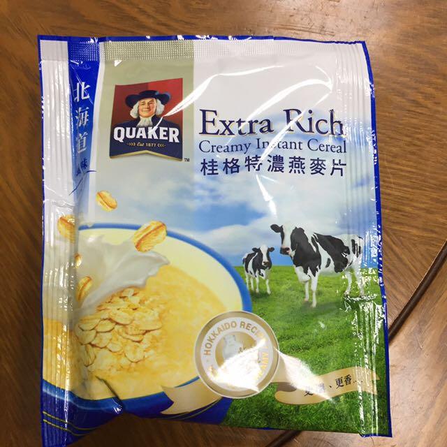 桂格鮮奶燕麥片5包