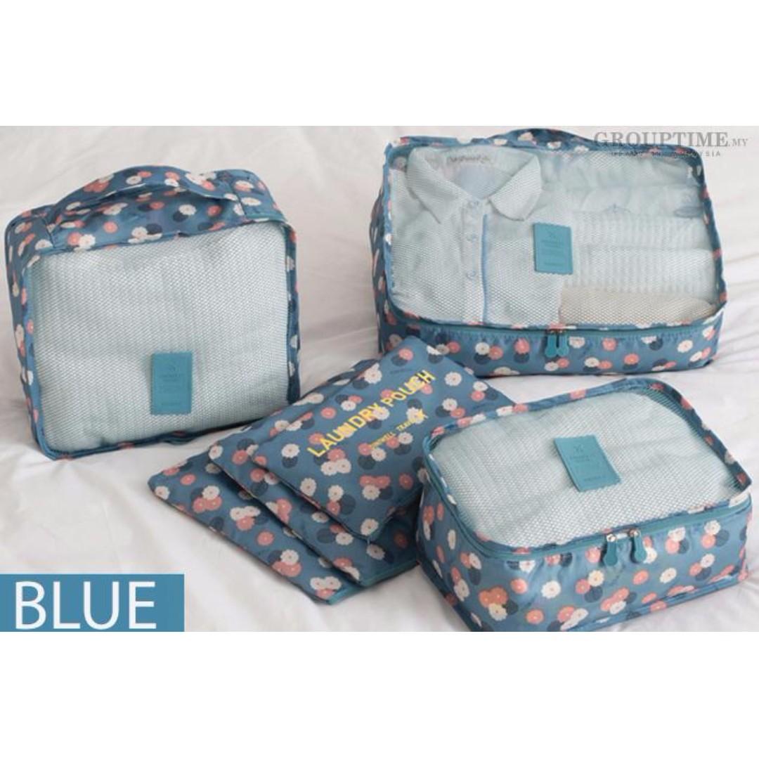6 in 1 Travel Luggage Bag Organizer, Travel, Travel Essentials ...