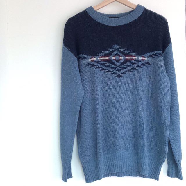 法國製🇫🇷民族風針織古著毛衣