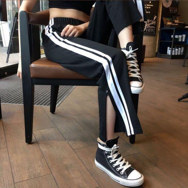 褲腳有拉鍊可以開叉ㄉ運動褲