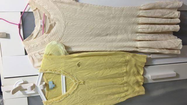 針織上衣+針織洋裝(含運)