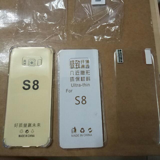 三星  S8 Samsung 手機殼 透明殼 軟殼 四角 防護 因買錯賣一組兩個