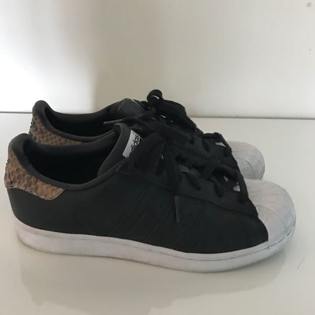 Adidas Superstar Sneaker With Snake Detail 8