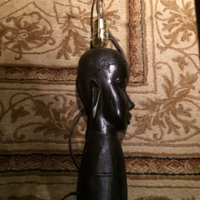 African Tribal Lamp