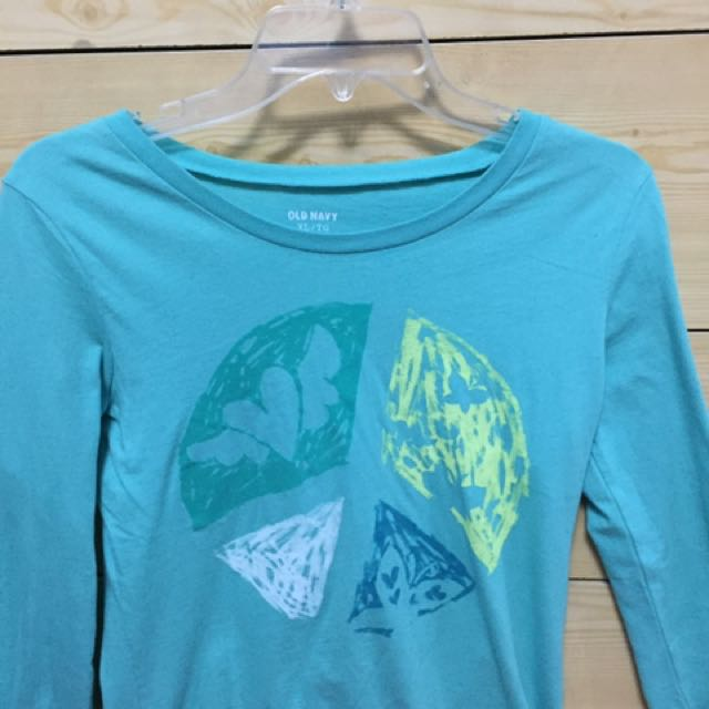 Aqua Peace Sign Shirt