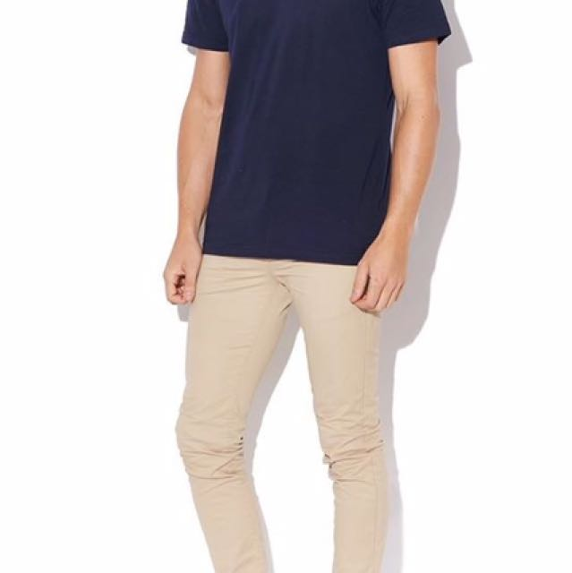Navy Tee From Lee