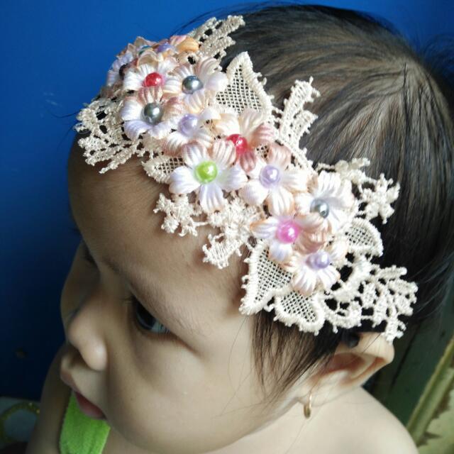 Bandana Bayi Brown Cute -Baby Headband