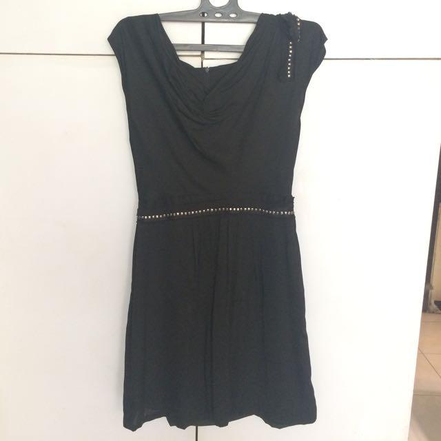 black stud dress