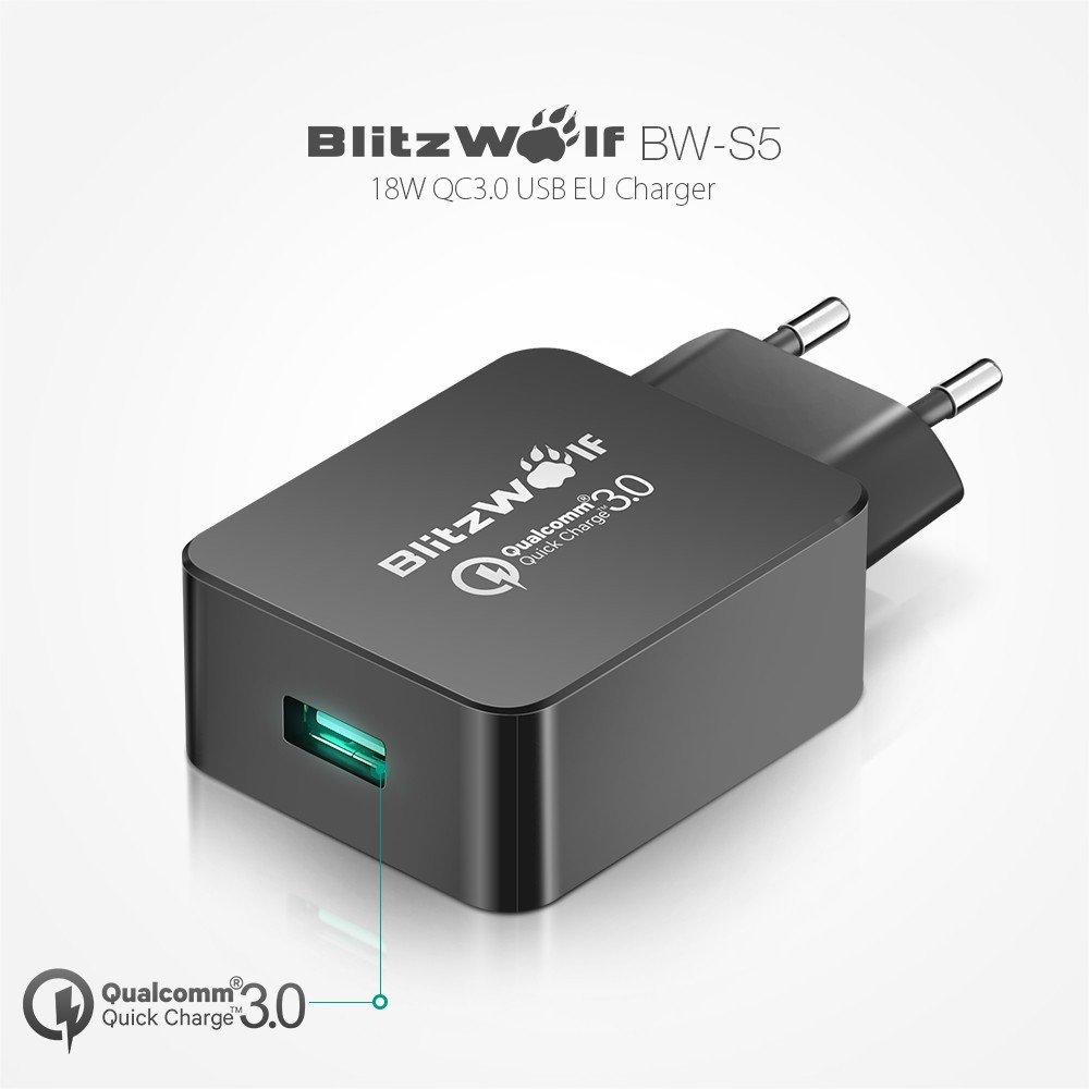 BlitzWolf BW-S5 Qualcomm Quick Charge 3.0 USB Charger