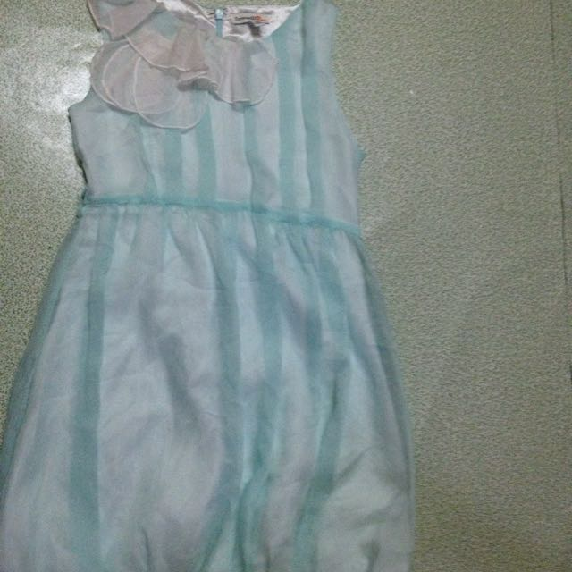 Bluegreen Cute Dress