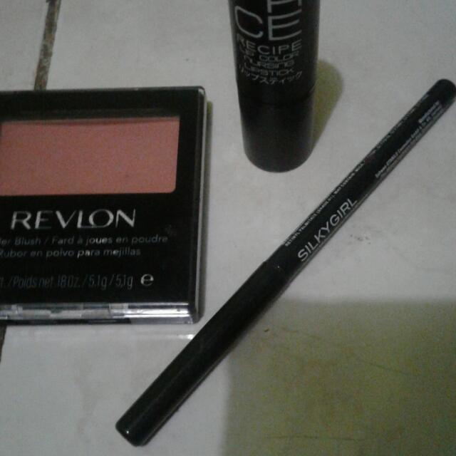 Blush On Revlon,silkygirl Eyeliner,lipstick Face Recipe Japan