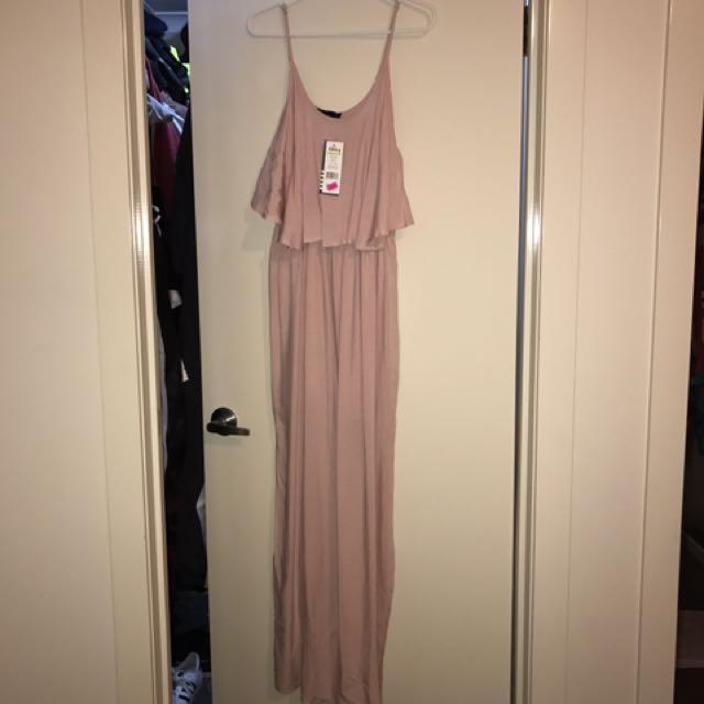 Blush Pink Maxi Dress Ally Size Xs