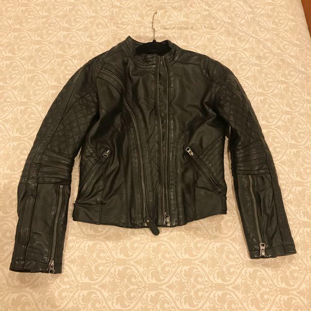 Brett Gold Sz8 Leather Jacket