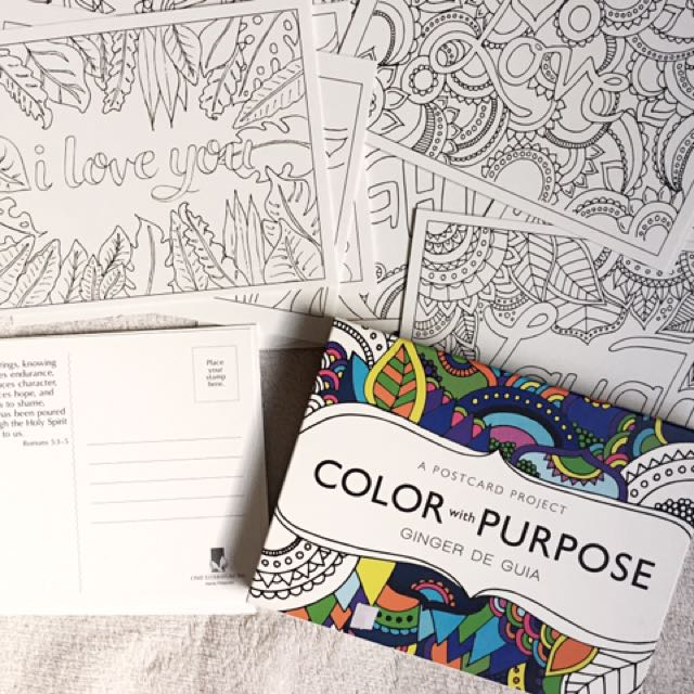 Color With Purpose: Coloring Postcards