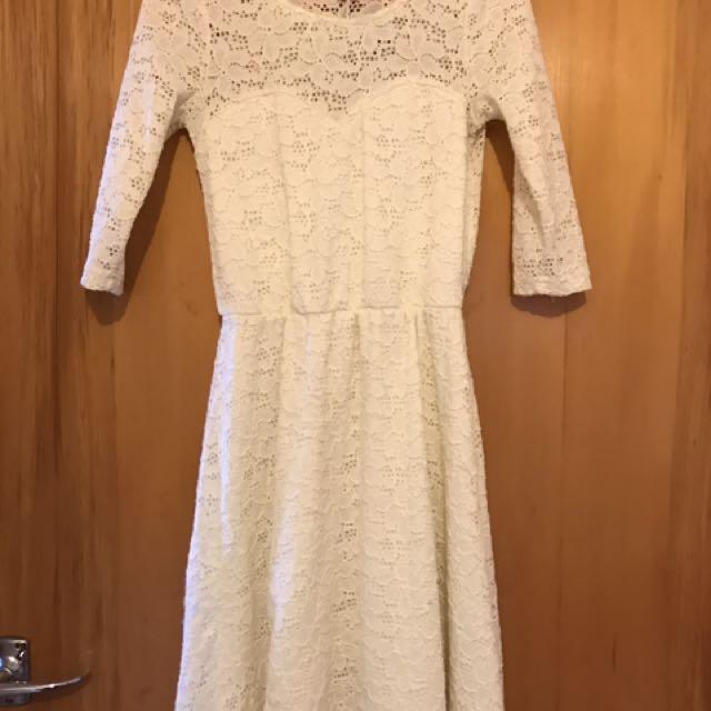 Cream Lace Dress COTTON ON