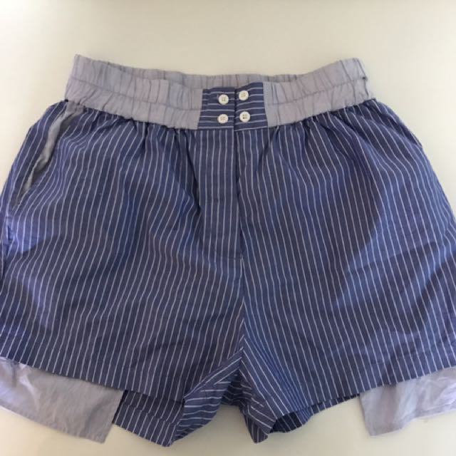 Dion Lee Pinstripe Shorts Size 8