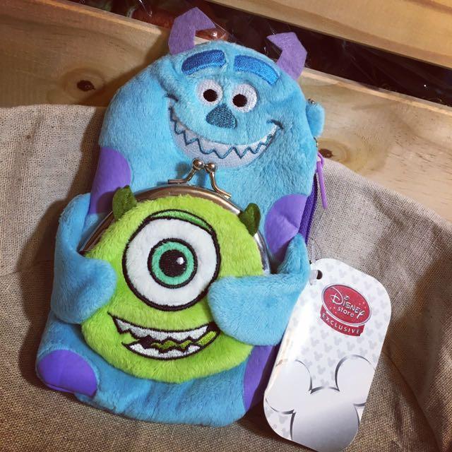 含運~東京迪士尼商店Disney Store怪獸電力公司毛怪 大眼仔隨身拉鍊掛包