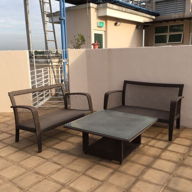 DOMUS Outdoor Furniture - 2 Love Seats & Coffee Table, Furniture, Tables &  Chairs on Carousell - DOMUS Outdoor Furniture - 2 Love Seats & Coffee Table, Furniture