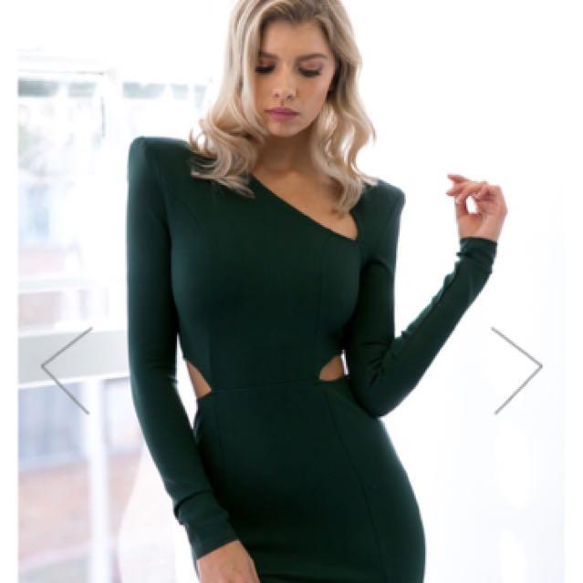 Emerald Green Bodycon Dress Size 10, Hello Molly