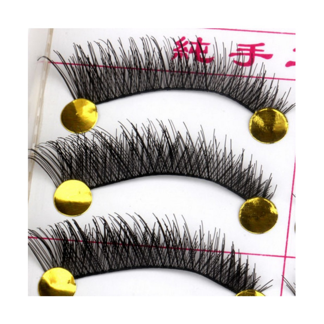 Eyelash Bulu Mata Hitam Natural Set Isi 10 Pasang