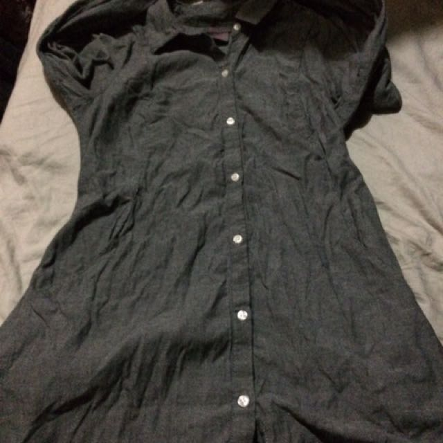 Fire Grey Polo Dress/long Top