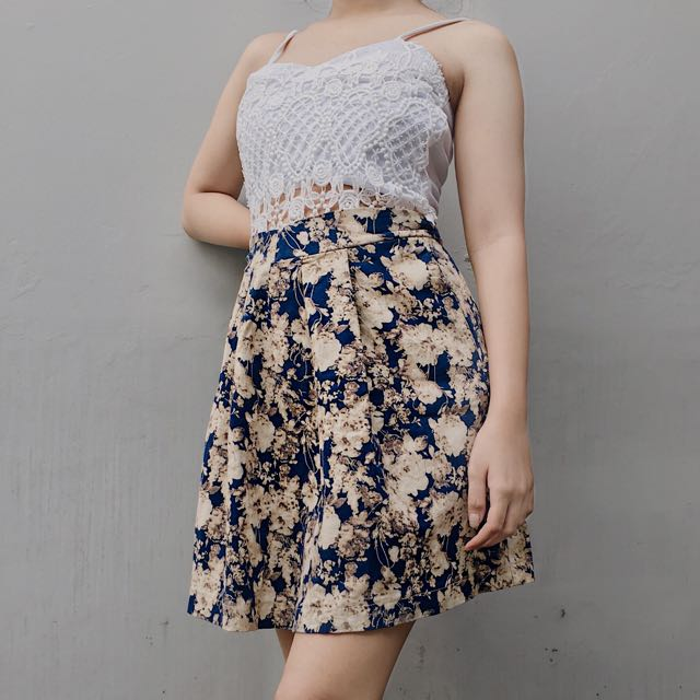 Floral Skirt / Rok Motif Bunga ❗️