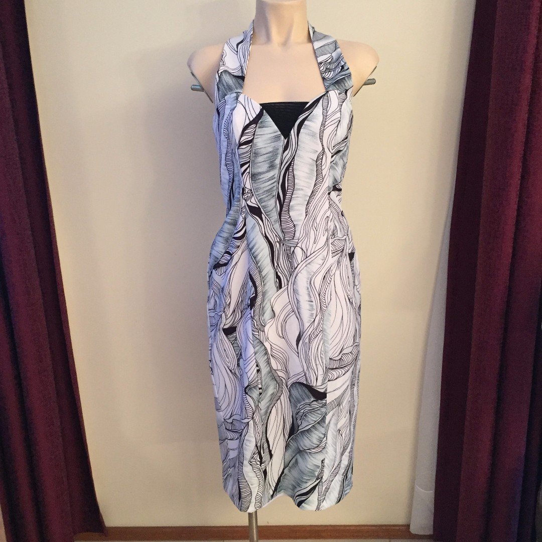 GEORGE Cross Over Strap Dress Size 10