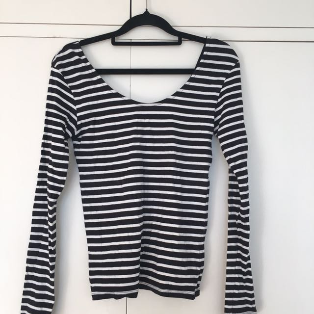 Glassons Low Back Stripped Top